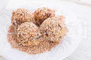home-made nibble - muesli - small ball