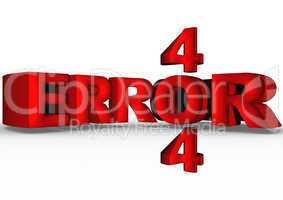 Three-dimensional inscription error 404