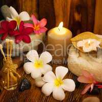 Outdoor spa massage setting