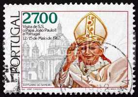 postage stamp portugal 1982 pope john paul ii