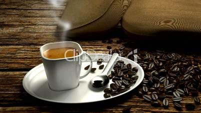 espresso with smoke