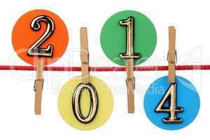 Number 2014 on a clothesline