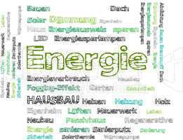 Energie  wörter schlagwortwolke cloud