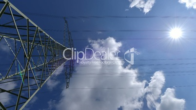 electricity pylon wide time lapse 10874