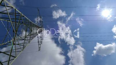 electricity pylon time lapse dolly move 10876