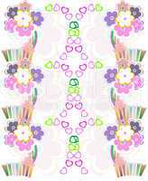 Seamless flower retro background pattern