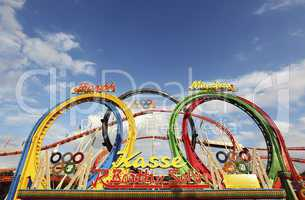 Rollercoaster at the Oktoberfest