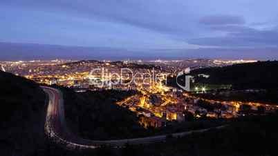 Barcelona Time Lapse - panoramic