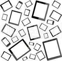 Tablet pc seamless wallpaper background