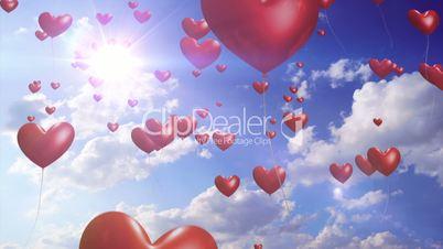 Heart Balloons - Romantic / Wedding Seamless Video Loop