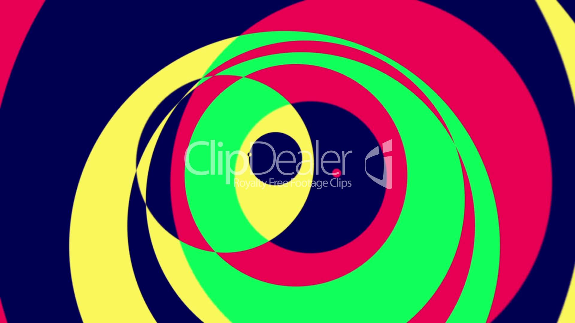 Psychedelic Circles 1 - Colorful Graphical Seamless Video Loop
