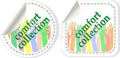 Comfort wear collection stickers