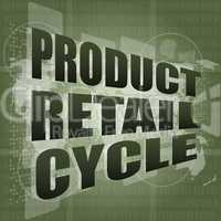 product retail cycle - digital touch screen interface
