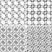 Set lace seamless, background, ornamental flowers wallpaper
