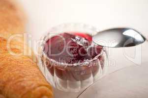 berry jam bowl closeup