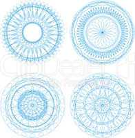 pattern for currency, certificate or diplomas, decorative elements