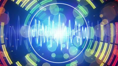 audio waveform equalizer pulsating loopable background