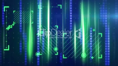 green blue abstract tech background loopable