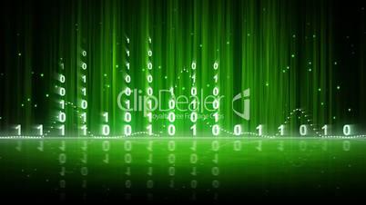 green digital data equalizer background loop