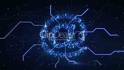 binary digital blue at sign loop since 10.00