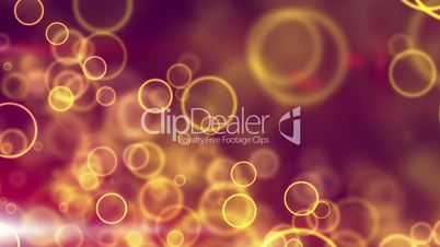 glowing yellow circle lights seamless loop background