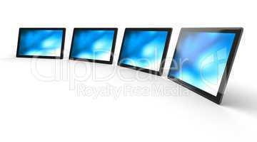 3D Tablet-PC Schwarz in Reihe 3