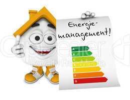 Kleines 3D Haus Orange - Energiemanagement Konzept 1