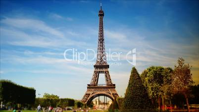 scenes of Paris, views of the Eiffel Tower, time-lapse