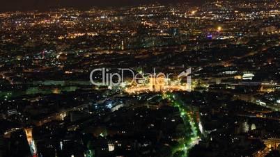 Etoile seen from Eiffel Tower, time-lapse night