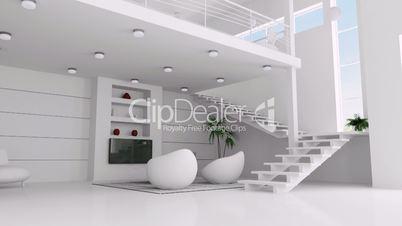 interior of white apartment