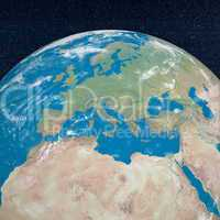 Mediterranean countries - 3D render