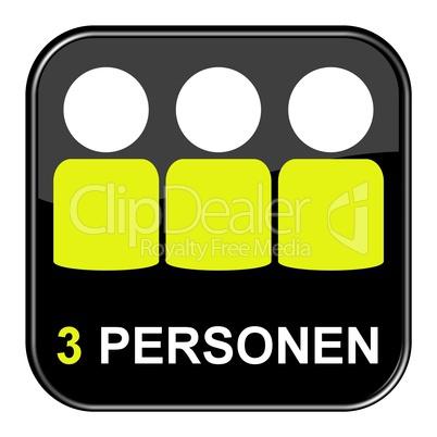 Button: 3 Personen