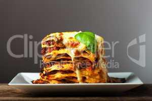 frische italienische Lasagne