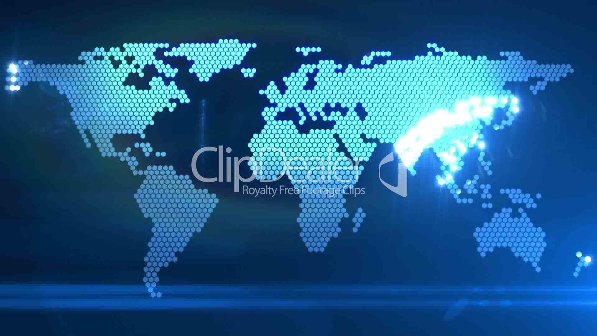 Digital World Map Royalty Free Video And Stock Footage