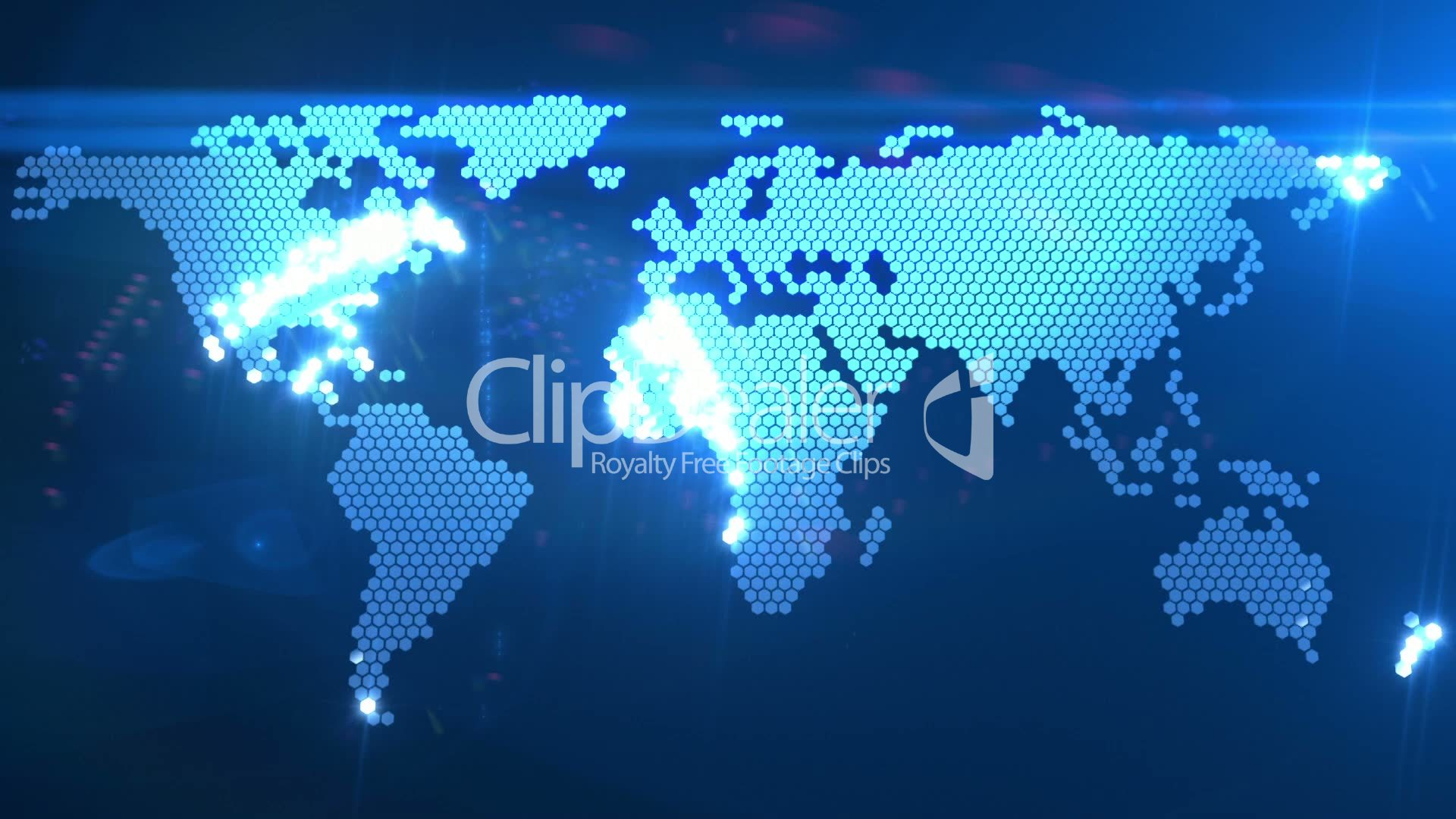 digital world map royaltyfree video and stock footage