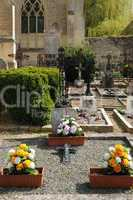 France, the cemetery of Guiry en Vexin in Val d?Oise