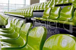 Zuschauertribüne, Grüne, Stühle