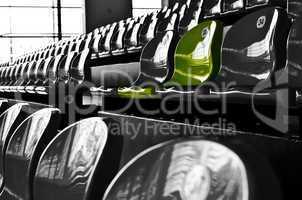 Stuhl 33, Zuschauertribüne, Grüne, Stühle
