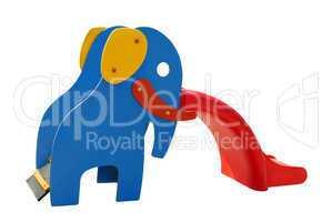 Rutsche in Form eines Elefanten, Freisteller