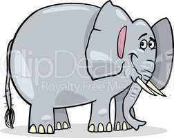 cute african elephant cartoon illustration