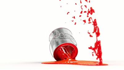 falling paint can