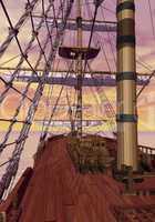 On merchant ship - 3D render