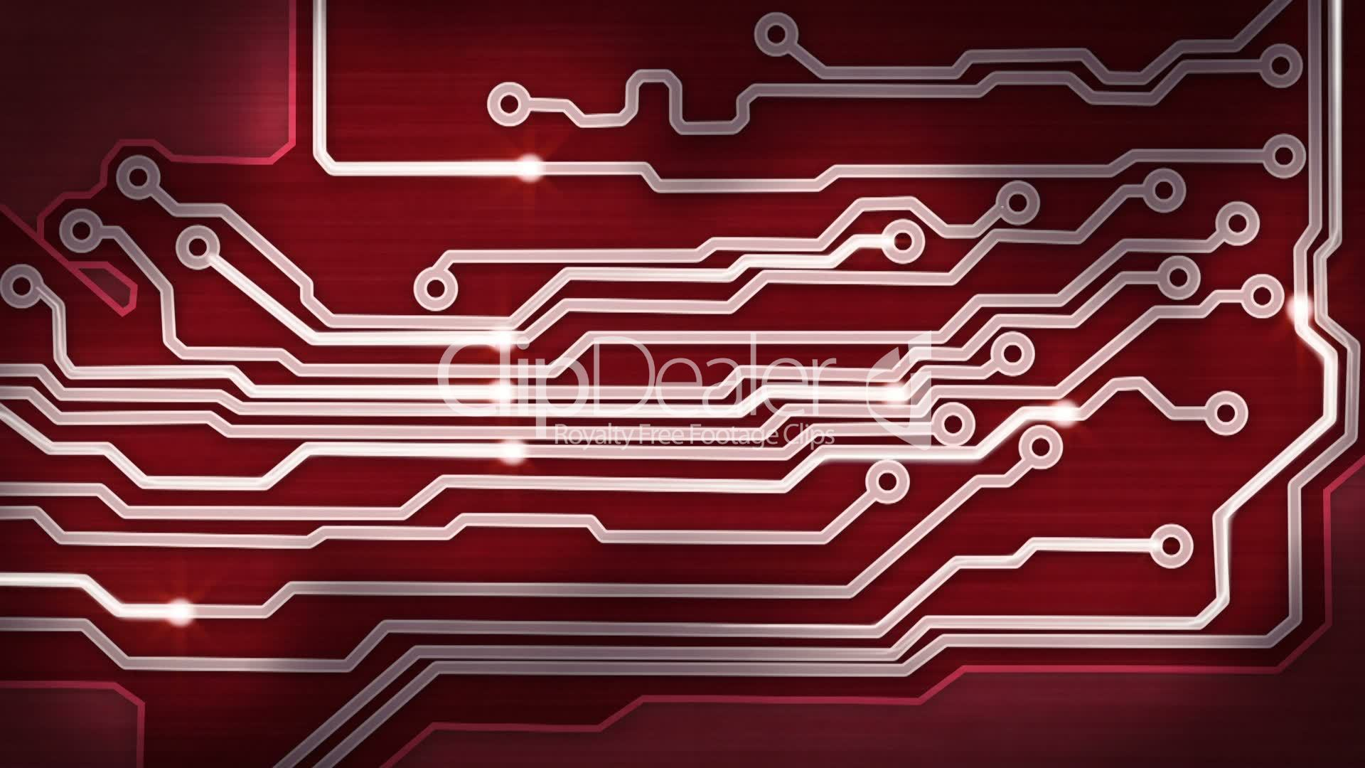 Red Circuit Board Digital And Signals Pan Loop Royalty Free Image Of Background From Close Up The Stock Photo Picture