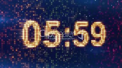 digital alarm clock display animation
