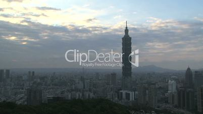 Taipei 101 tower timelapse