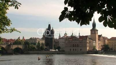 Charles Bridge and Old Town Bridge Tower,Prague,Czech Republic