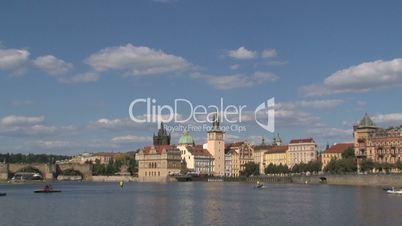 Vltava river Prague time lapse,Prague,Czech Republic