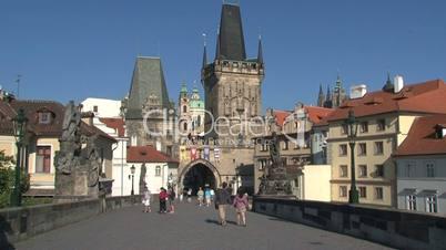Bridge tower at the end of the Charles Bridge,Prague,Czech Republic