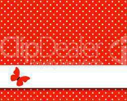 Roter Hintergrund mit weißen Pünktchen und Streifen für Text