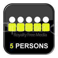 Button: 5 Persons